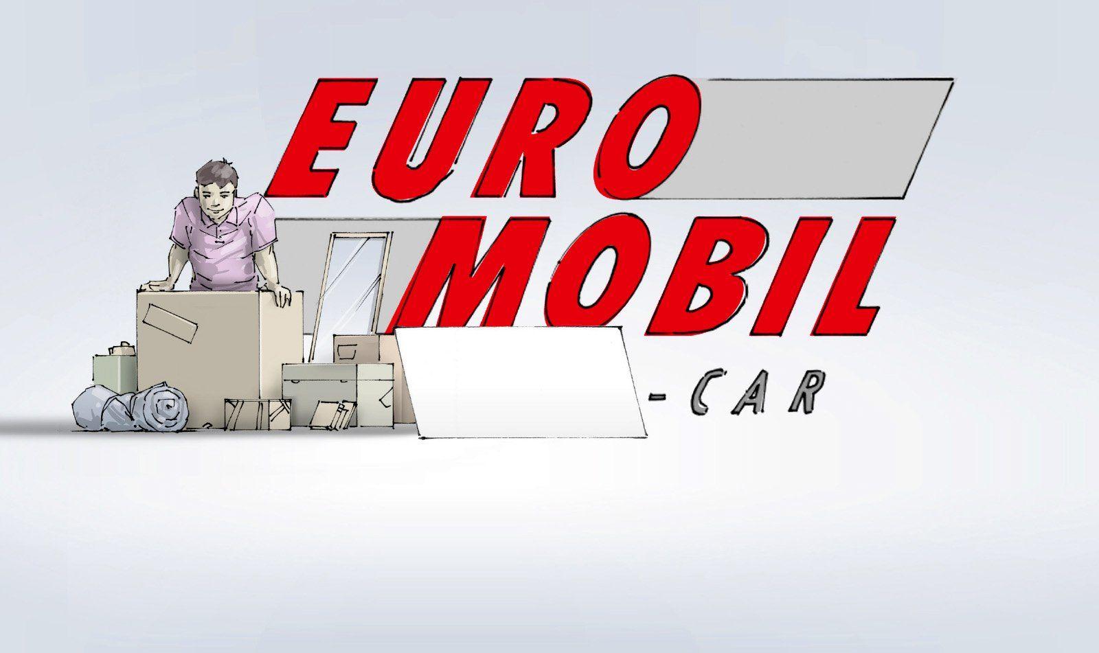 Euromobil Autovermietung Großflächenplakat Illustration