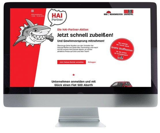 Mockup der HAI-Partner-Aktion Landingpage