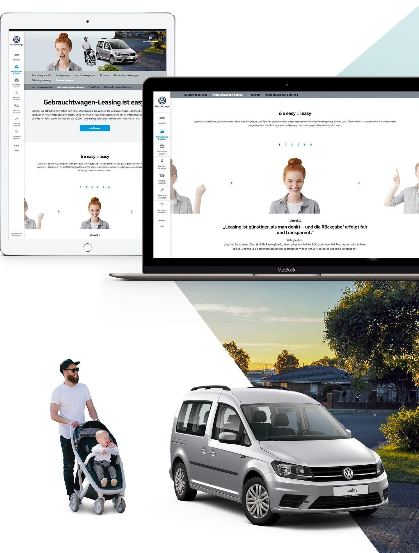 Screenshot: Kampagnen-Seite auf Tablet und Laptop