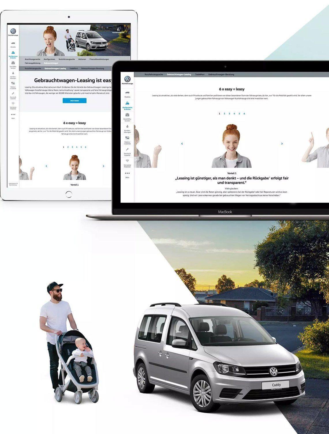 Übersicht der VGSG Gebrauchtwagen-Leasing Website auf verschiedenen Devices