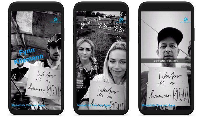 Snapchat-Aktion mit Viva con Agua