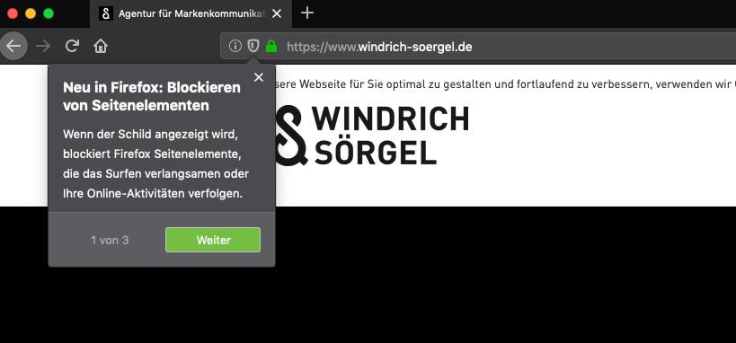 Firefox: Hinweis auf Social-Media-Tracking im Browser