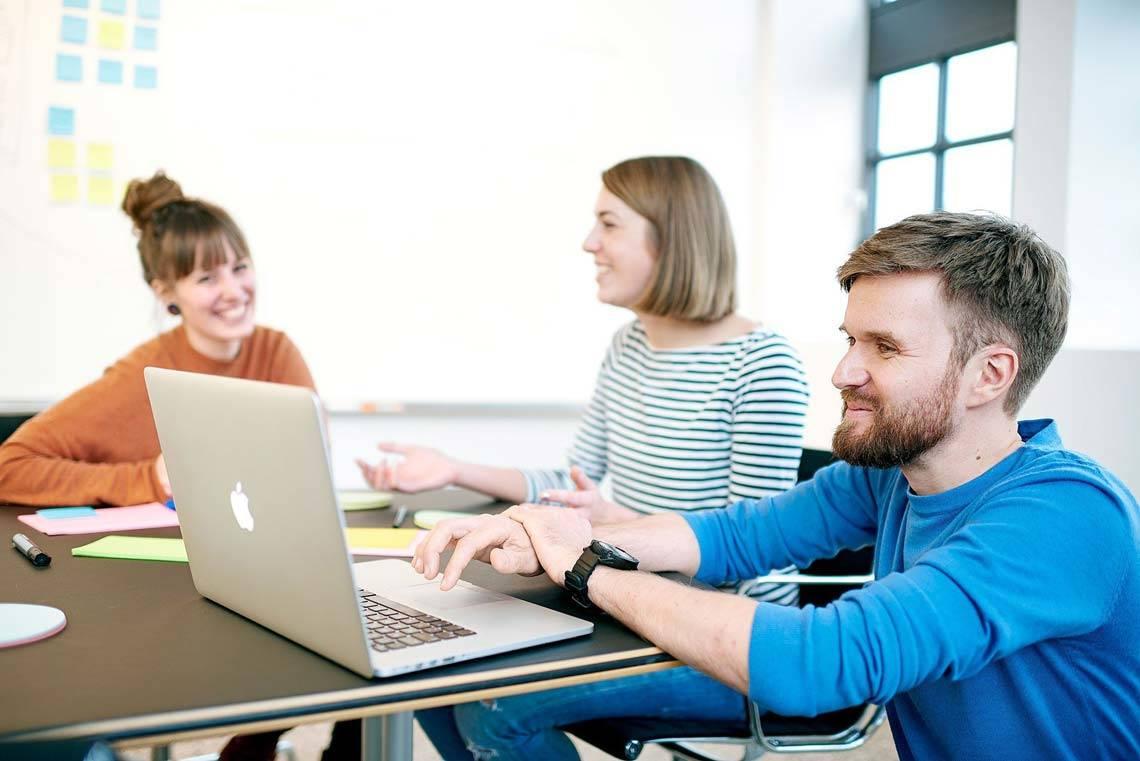 Mitarbeiter im Texter-Büro