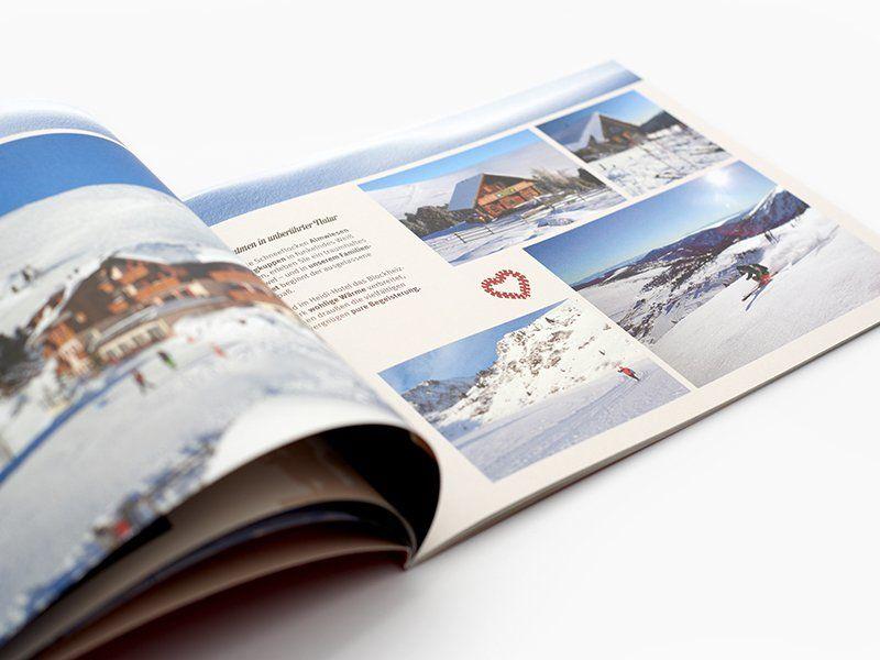 Heidi-Hotel Imagebroschuere Innenseite Winter