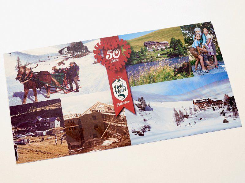 50 Jahre Heidi-Hotel Postkarte