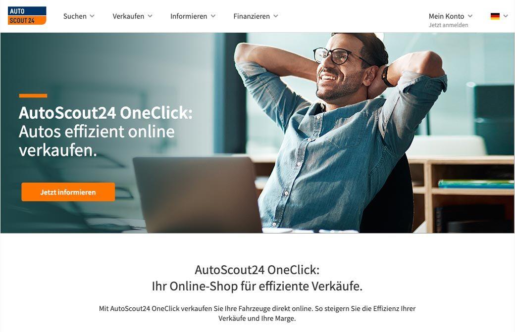 Screenshot Autscout OneClick für Händler