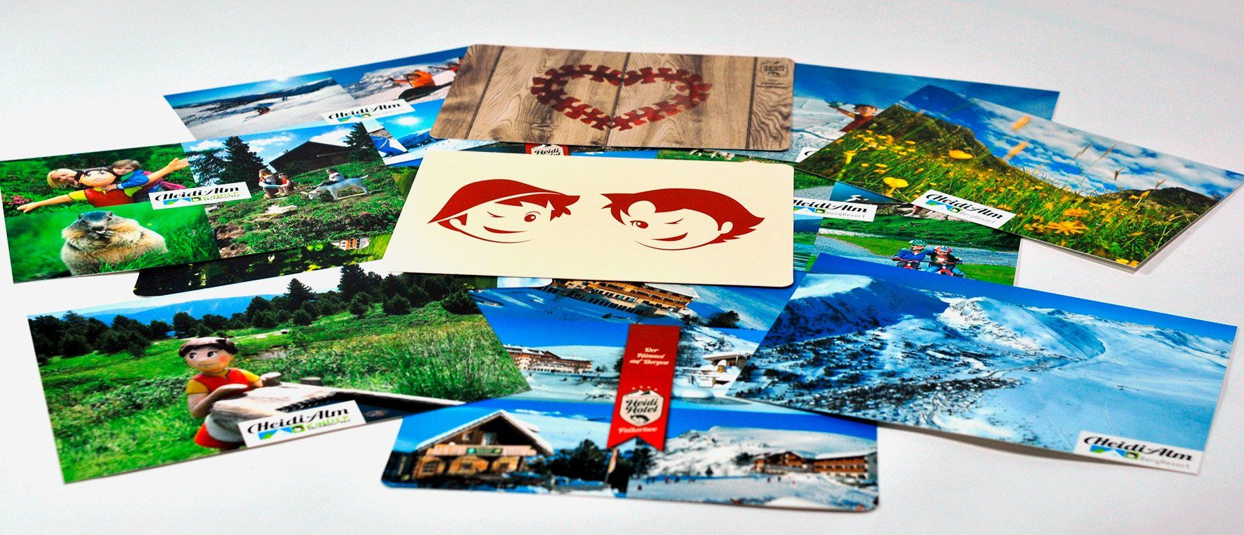 Postkarten Heidi-Hotel