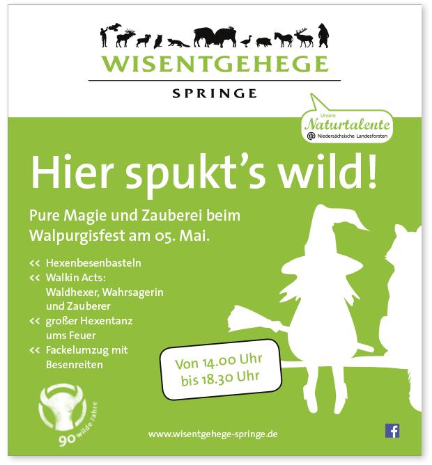 Anzeige Wisentgehege Walpurgisfest