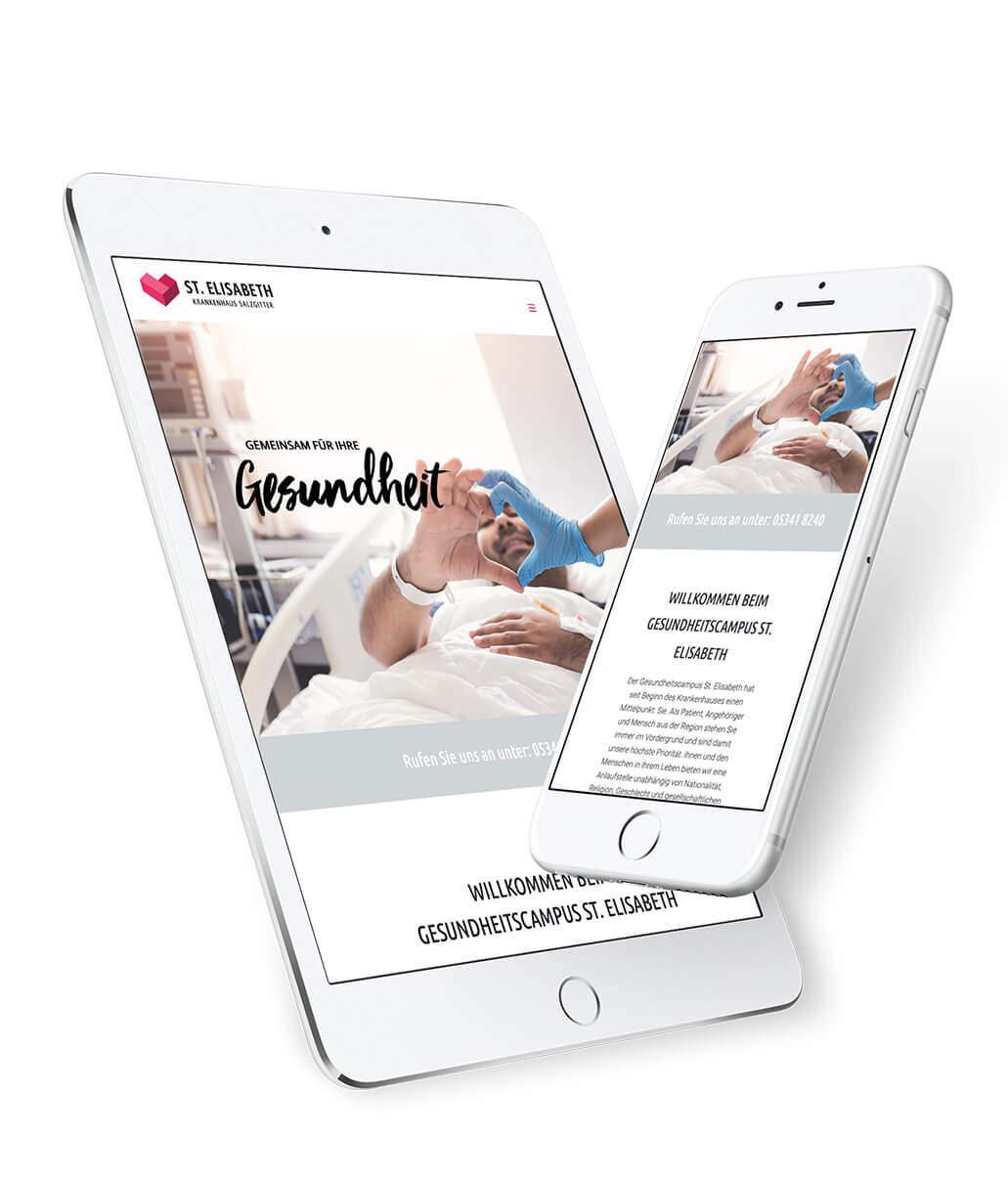 Screendesign iPad und iPhone