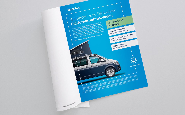 VGSG TradePort: Markenpositionierung - Anzeige für den California