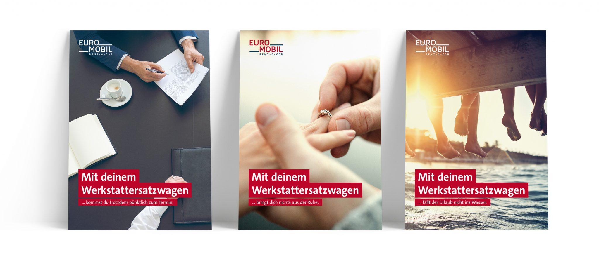 Euromobil Relaunch Plakate Werkstattersatzwagen