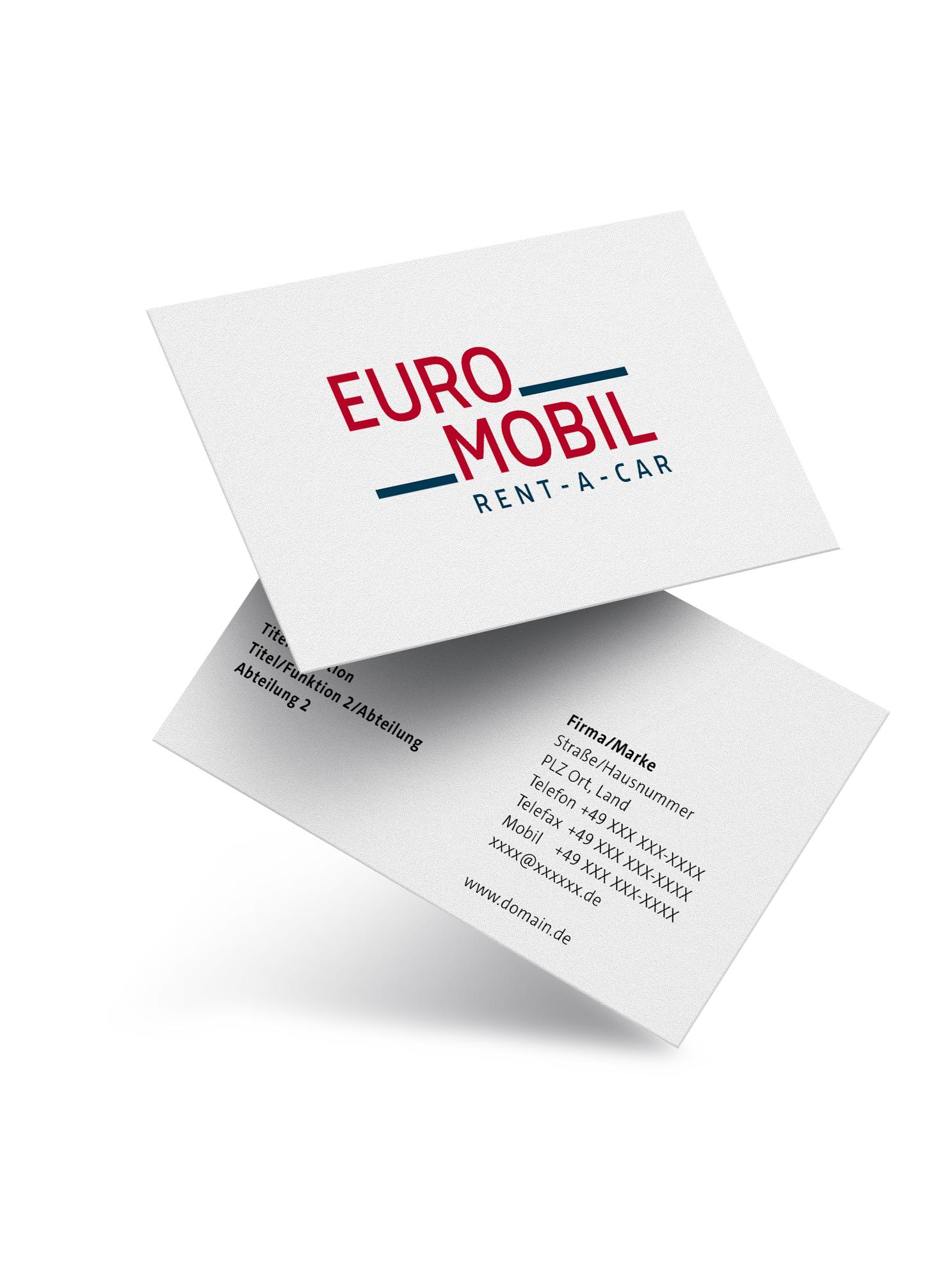 Euromobil Relaunch Visitenkarte