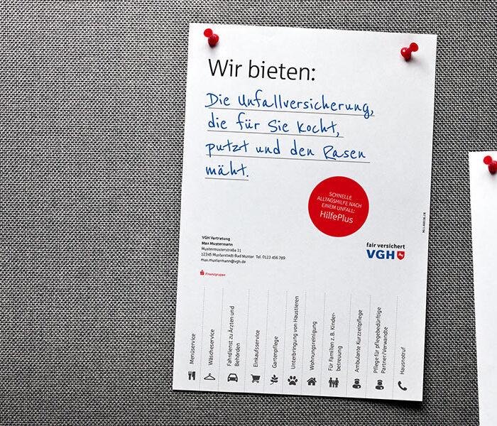 VGH Handelsmarketing-Maßnahme weitere Print-Maßnahme als VGH Lead-Agentur | Windrich & Sörgel