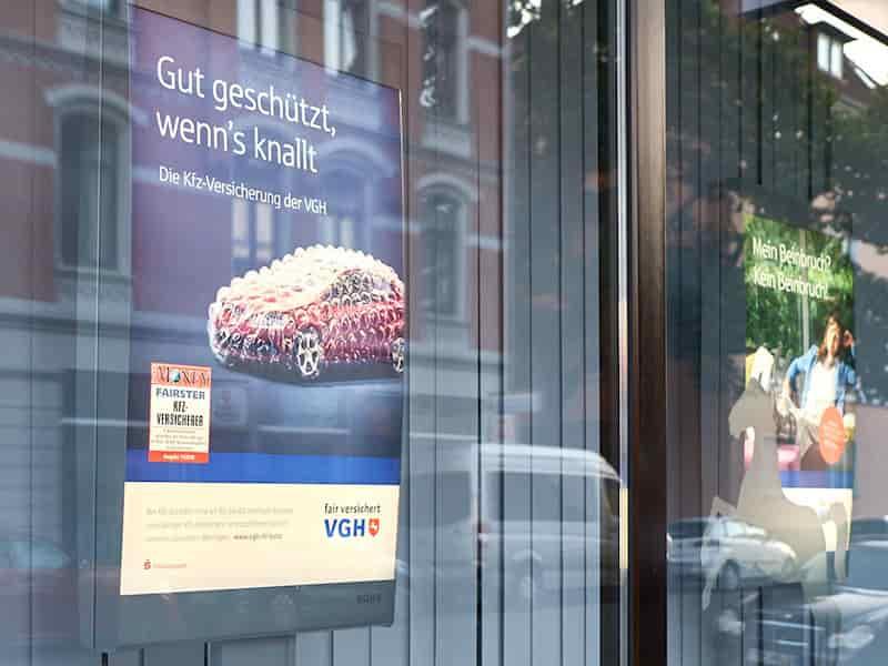 VGH Kfz Kampagne Plakat | Windrich & Sörgel