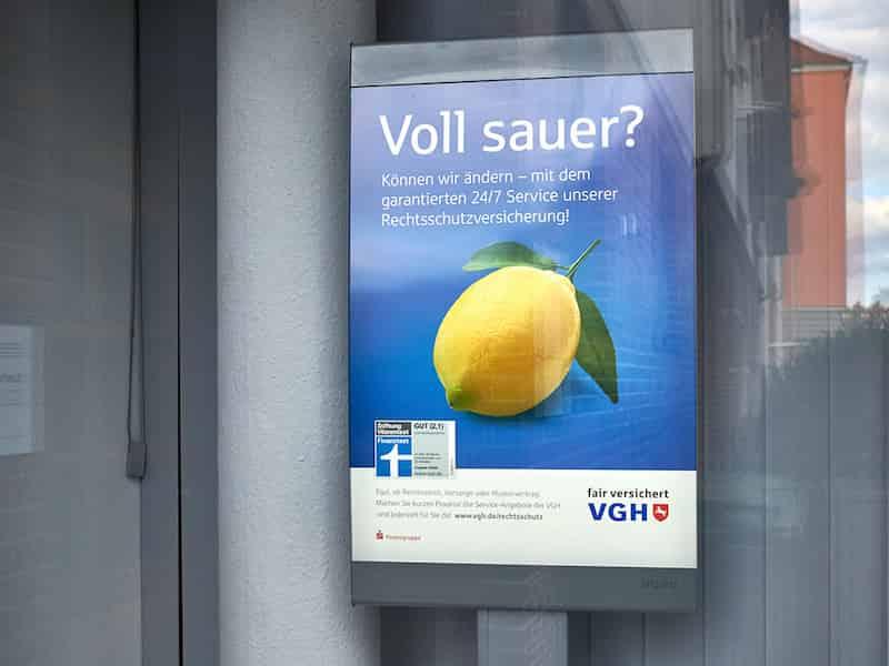 VGH Rechtsschutz Kampagne Plakat | Windrich & Sörgel