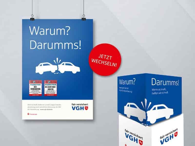 VGH KFZ Kampagne Printmaterial | Windrich & Sörgel