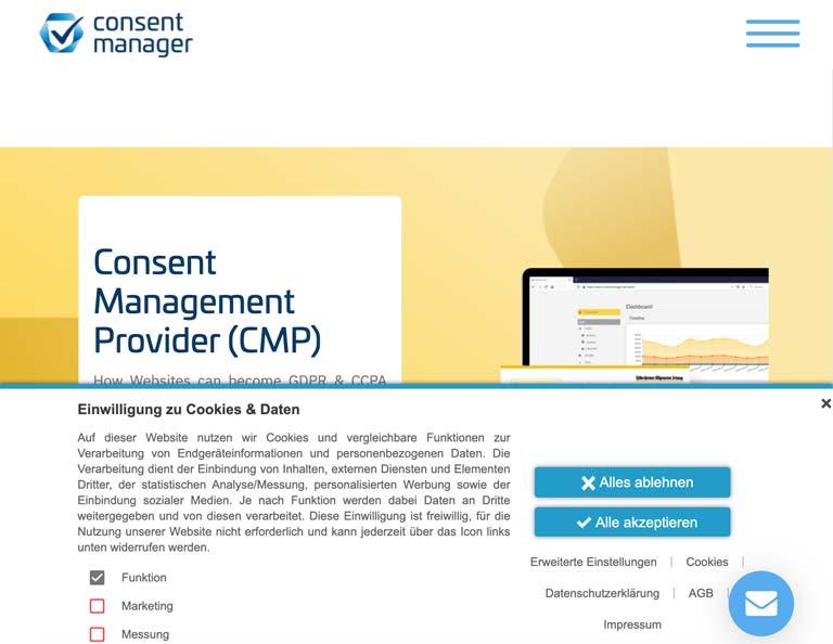 Vorschau Consentmanager von consentmanager.net   Windrich & Sörgel