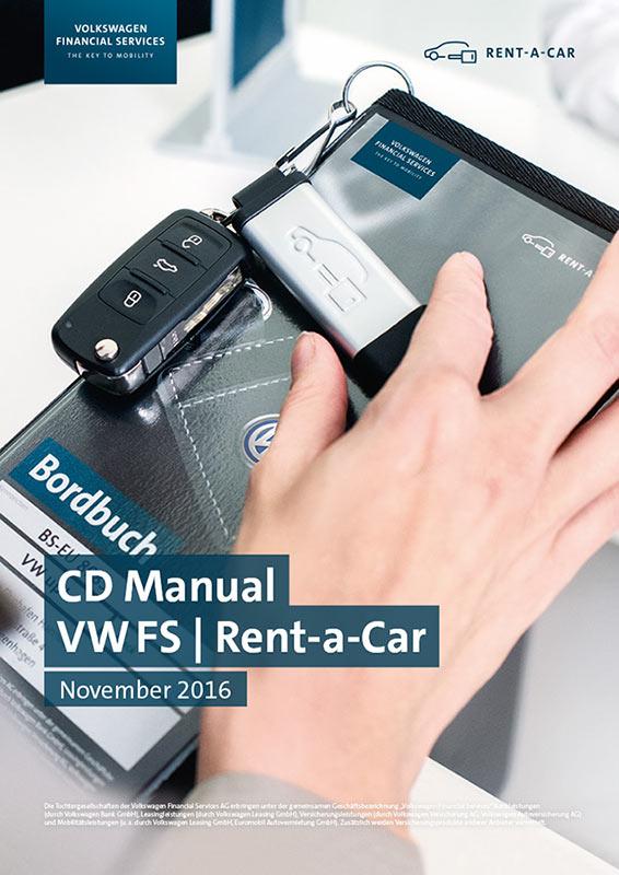 VW FS Rent-a-Car Styleguide CD Manual