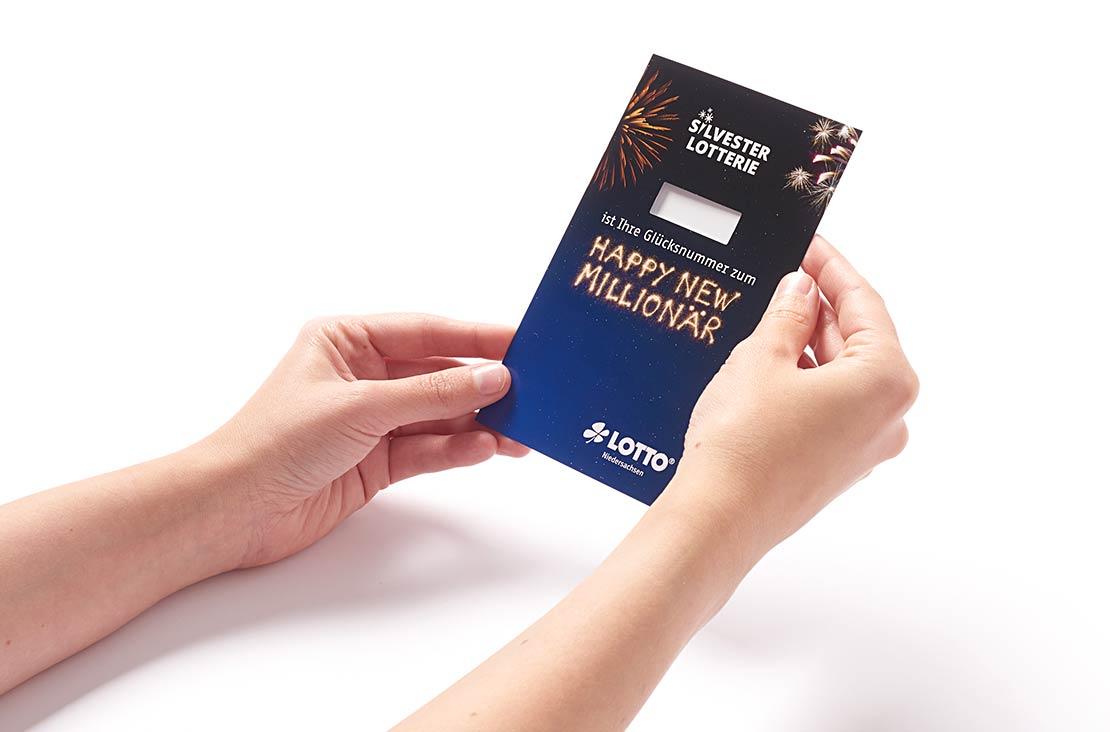 Lotto Niedersachsen Silversterlotterie Verpackung