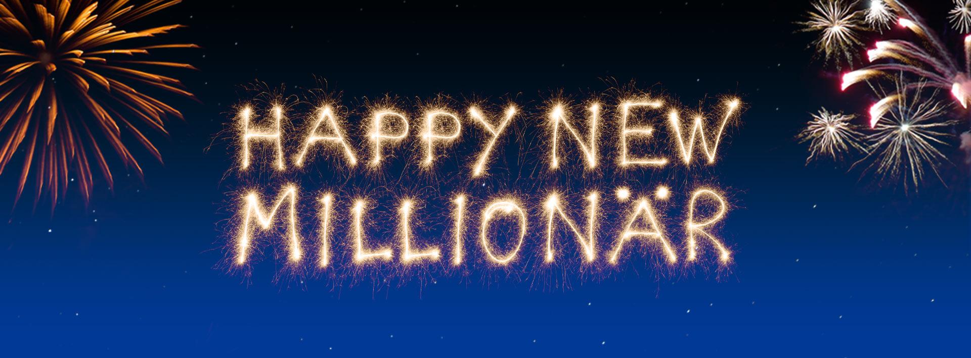 Lotto Niedersachsen Silversterlotterie Happy New Millionär Header