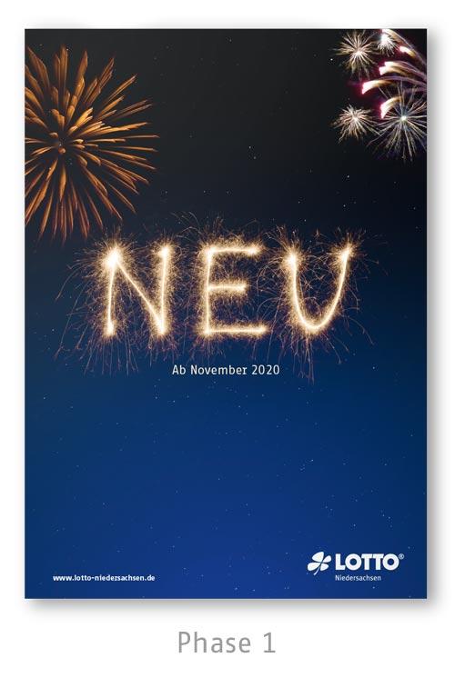Lotto Niedersachsen Silversterlotterie Kampagne Plakat Phase 1