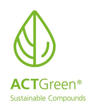 ACTEGA – Logo ACTGreen, Sustainable Compounds; Entwicklung Produktmarke   Windrich & Sörgel