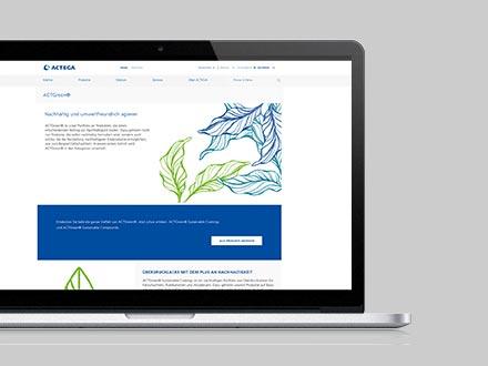 ACTEGA - ACTGreen Mockup Website   Windrich & Sörgel