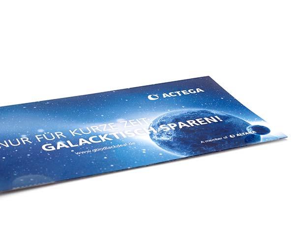 "ACTEGA – Ansicht Print-Mailing ""Galaktisch sparen""   Windrich & Sörgel"