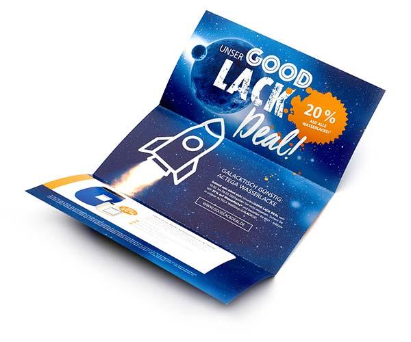 ACTEGA – Good Lack Deal! Ansicht Print-Mailing: Design und Kommunikationskonzept   Windrich & Sörgel