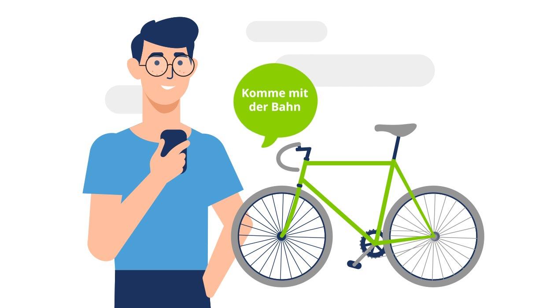 GVH Geschäftsbericht Illustration Fahrrad