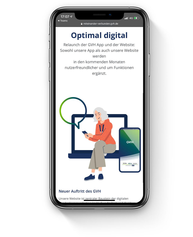 GVH Geschäftsbericht Mobile Phone